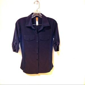 Lucy Fly Away Active Button Down Top